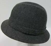 Vintage Stetson Equalizer Gray Tweed Wool Blend Men's Fedora Hat Medium 7-7 1/8