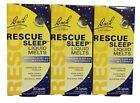 3 pack Bach Rescue Sleep Liquid Melts, 28 Dissolvable Caps each box, ex 07/2023