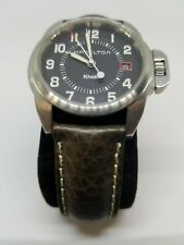 Hamilton Khaki Mens Watch Black Band New With Tags & Case Sapphire Crystal 6301