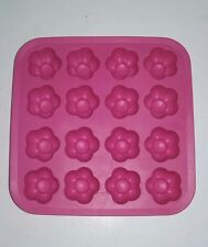 "IKEA Easy-Pop Silicone Pink Flowers Ice Cube Tray - 7"" x 7"" - NEW"