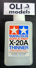 Tamiya Color X-20A Acrylic Paint Thinner 250ml Bottle - Tamiya 81040