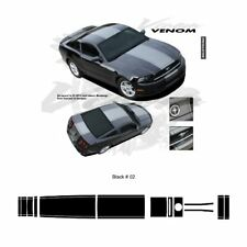 Ford Mustang 2013 up Center Stripes Graphic Kit - Gloss Black