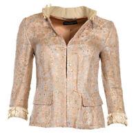 Dolce & Gabbana Jacke Gold Brokat Verziert Größe 38/UK 6 Wr 123