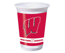 Wisconsin Badgers Cups and Napkins Set - 40 Cups and 60 Napkins NEW Party Paper