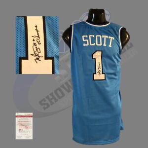 UNC Tar Heels, Melvin Scott signed Custom Pro style jersey w/JSA