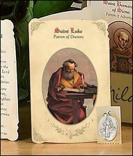 St Luke (Doctors & Medical Professionals) Holy Card (PRAYER FOLDER)w/SAINT Medal