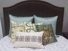 Blissliving Home Euro Shams and Throw Accent Pillows Decorative Couch - Bedroom