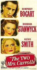 THE TWO MRS. CARROLLS Movie POSTER 27x40 B Humphrey Bogart Barbara Stanwyck