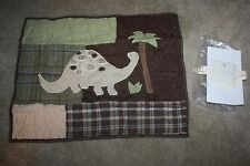 POTTERY BARN MADRAS DINOSAUR QUILTED STANDARD SHAM .... BRAND NEW IN PACKAGE