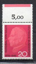 WEST GERMANY STAMP 1966 CARDINAL VON GALEN  SG 1411 MNH WITH MARGIN VALUE