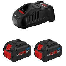 Bosch Professional 2X Procore 18V 8.0Ah Batería + Cargador GAL 1880Cv