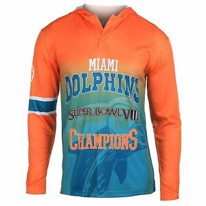 NFL Miami Dolphins Super Bowl VIII Champions Hoody Tee, Small