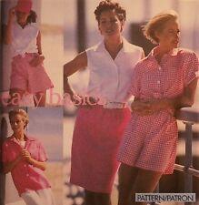 S-8298 Skirt Short Shirt Sewing Pattern Simplicity Size 6-8-10-12 Uncut