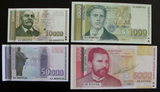 BULGARIA Full Set 4 banknotes post communist period 1997 UNC , Rare