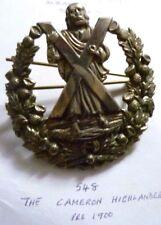 Badge- VICTORIAN Cameron Highlanders Cap Badge (All WM,Org*)