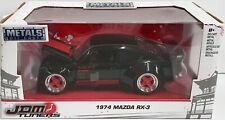 Jada Mazda RX-3 Black JDM Tuner 1974 1/24 Scale Diecast Model 30717
