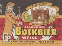 DDR Etiketten VEB Brauerei Potsdam