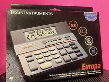 Vintage 1990 Texas Instruments Europa Desktop Data Bank Calculator Gc