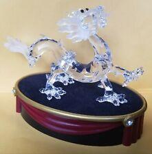Swarovski Dragon Figurine and Pedestal