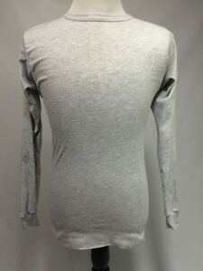 Medalist Shirt Long Sleeve Gray Stretch Base Layers Made in USA NWOT