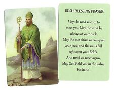 Saint Patrick IRISH BLESSING PRAYER (Lot of 2) Laminated catholic prayer cards