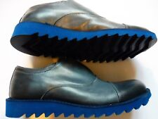 New Trussardi Blue Leather Casual Shoes Size 10 (44) Made in Italy