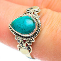 Chrysocolla 925 Sterling Silver Ring Size 8.5 Ana Co Jewelry R52241F