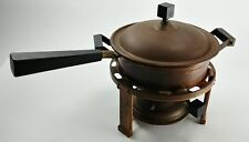 Antique Copper Brass Chafing Dish Manning Bowman - 6 Cup Porcelain Buffet Warmer