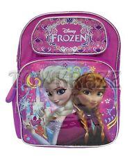 "DISNEY'S FROZEN BACKPACK! PINK CASTLE SISTERS GIRLS SCHOOL BOOK BAG 16"" NWT"