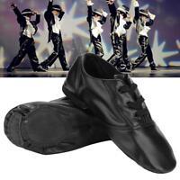 Unisex Men Women Jazz Dance Shoes Leather Split Sole Exercise Practice Shoes SD