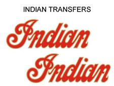 Indian Tank Transfer Decal American Motorcycle Pair D50928 Gold Red Large