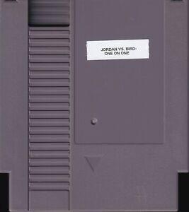 JORDAN VS BIRD: ONE ON ONE 1989 nes nintendo rare mb basketball NTSC USA IMPORT