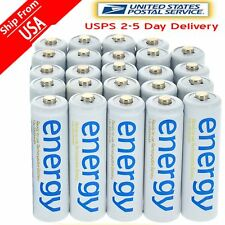 AA Rechargeable Batteries Energy 24pcs AA 3300mAh Ni-MH For RC Toys FAST SHIP