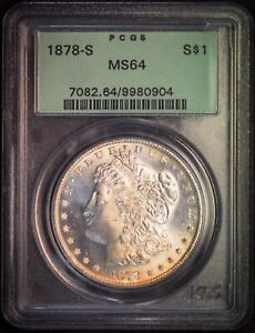 1878 S MS64 OGH Morgan Silver Dollar 90% US Mint San Francisco $1 Free Ship Slab