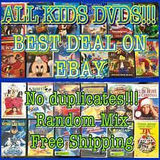 KIDS 50 DVD LOT ASSORTED! Children's Movies & Tv Shows! WHOLESALE PRICES