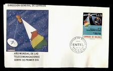 DR WHO 1990 BOLIVIA FDC TELECOMMUNICATION SPACE CACHET  g01131