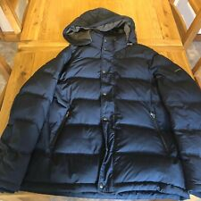 Blue Mens Hackett Water-repellent down-filled padded jacket XL HM402084 RRP £300