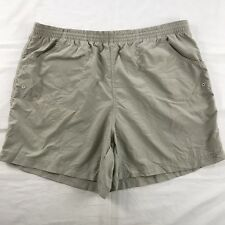 Columbia Womens 100% Nylon Hiking Outdoor Shorts Size L Khaki