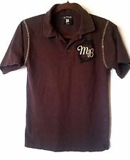 Embroidered Makaveli Branded Boys Polo/Bowling Shirt, size 8-10 Brown