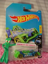 VOLTAGE SPIKE #296☆blue/green;5sp yellow☆X-RAYCERS☆2017 i Hot Wheels☆Case N/P