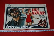 HELLS ANGELS ON WHEELS original 1967 Belgian Movie Poster Jack Nicholson