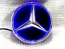 Mercedes-Benz LED Badge Emblem Logo Class A B C E ML GL CLK GLK CLS 185mm Blue