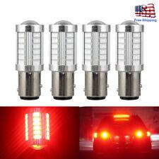 4x 1157 BAY15D 33SMD 5630 LED Red Light Tail Stop Brake Lamp Turn Backup Bulbs
