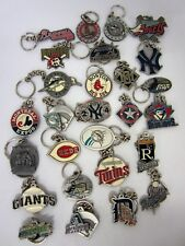 27x Assorted 1990s-2000s Baseball Key Chains ANGELS BRAVES MARLINS YANKEES etc