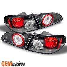 Fits 98-02 Toyota Corolla Ce Ve S Black Altezza Tail Brake Lights Set Left+Right