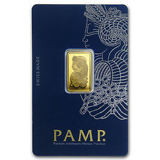 5 gram Gold Bar - PAMP Suisse Lady Fortuna Veriscan® (In Assay) - SKU #82247