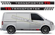 VW Volkswagen Transporter 011 T4 T5 de Gráficos Pegatinas Rayas caravanas Racing