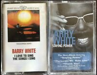 2 Rare Barry White Cassettes - I Love To Sing The Songs I Sing + Staying Power