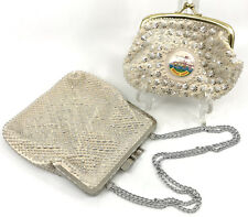 Vintage Evening Bag and Souvenir Coin Purse Windsor ON Hong Kong Beaded Unused