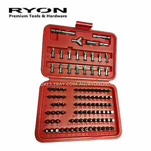 100PCS ScrewDriver Security Bits Set Holder Star Hex Professional Made in Taiwan